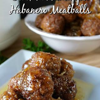 Crock Pot Pineapple Habanero Meatballs.