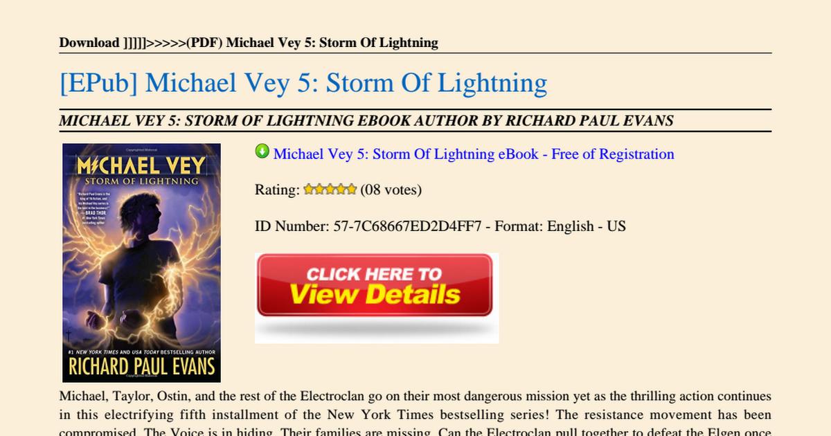 Michael Vey 5 Storm of Lightning