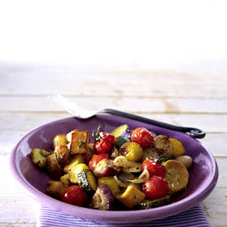 Roasted Italian Vegetables and Tomatoes.