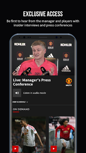 MUTV u2013 Manchester United TV 2.6.3 screenshots 2