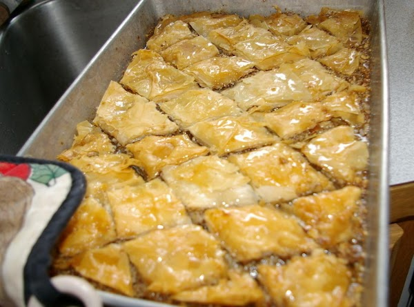 Bake 1 hour at 325º. Remove from oven; finish cutting diamonds; cool thoroughly.