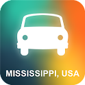 Mississippi, USA GPS icon