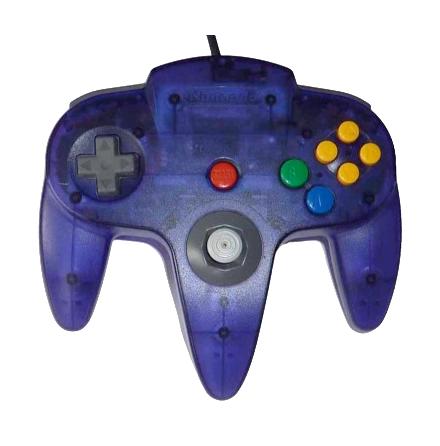 Nintendo 64 Handkontroll Turkos/Grape Purple Transparent beg