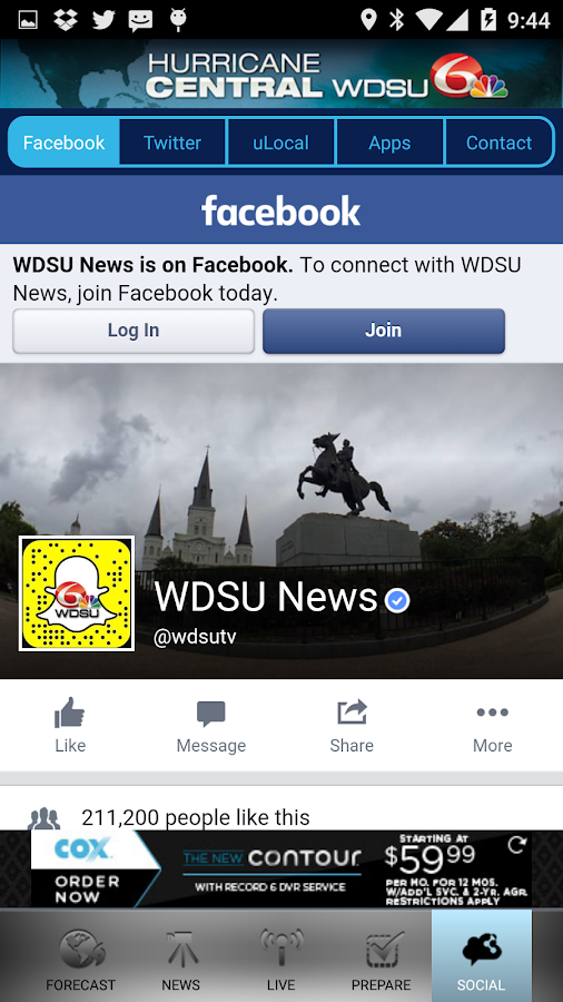 WDSU Hurricane Central- screenshot