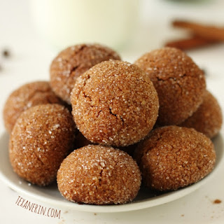 Grain- and Gluten-free Soft and Chewy Ginger Cookies.