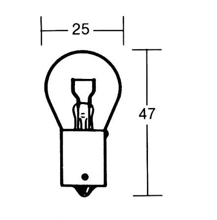 P21W Incandescent lamp 12V 21W BA15s