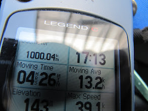 Photo: Day 27 - Our 1000 Kms (MileMarker)!!