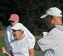 Photo: Nancy shares the rules and order of play.
