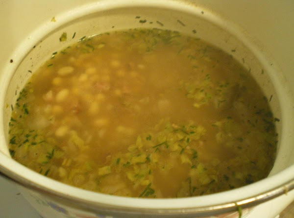 Add beans, chives, and 4 cups of fresh water.  Add garlic powder and...