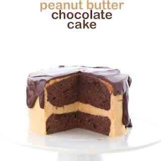 Mini Chocolate Peanut Butter Layer Cake