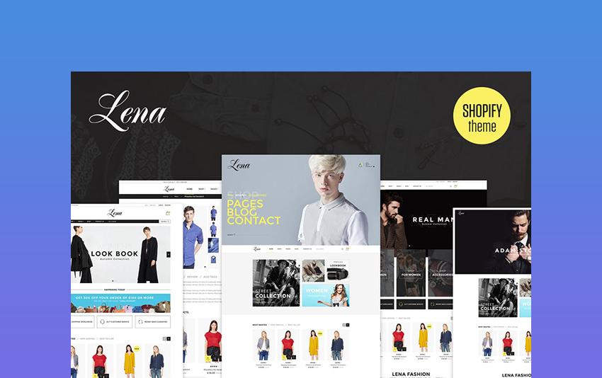Shopify responsive themes Lena
