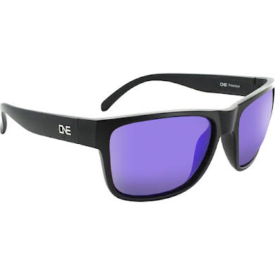 Optic Nerve ONE Kingfish Polarized Sunglasses: Matte Black with Polarized Brown Blue Mirror Lens