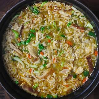 Thai Ramen Noodle Chicken Soup.
