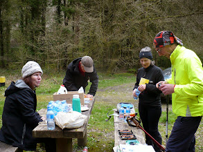 Photo: Refreshment break in Bansha Woods on the Slievenamuck Marathon, April 13th, 2014. Photo by Mauren Larkin.  2 of 5