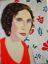 "Photo: Portrait of Ann ~ acrylic on paper ~ 29"" x 22"""
