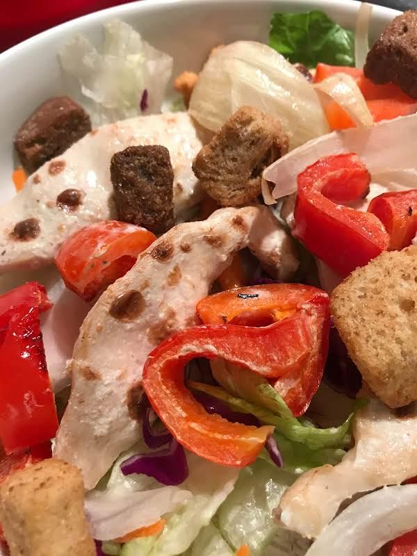 Chicken Kabob Caesar Salad Recipe