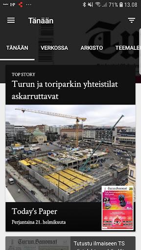 Turun Sanomat näköislehti screenshot 1