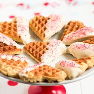 White Chocolate Dipped Waffle Cookies.