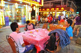 Photo: 慶祝阿非完攀雷劈山5.12a的紅點飯