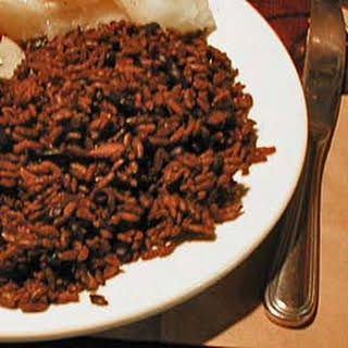 Cuban-style Black Beans Cooked With Rice..