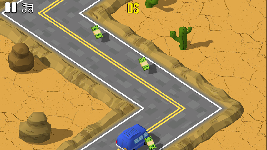 android ZigZag Car Challenge Screenshot 2