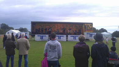 Photo: The main arena was host to a variety of bands. The rain stayed mostly away.