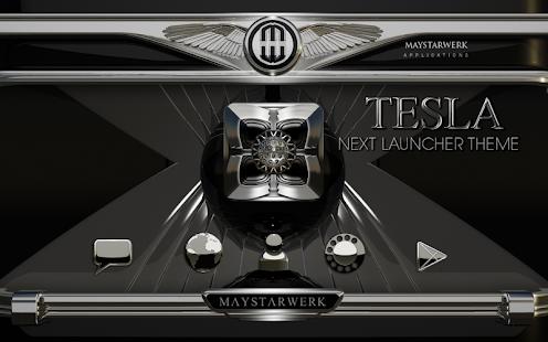 Next Launcher theme Tesla - náhled