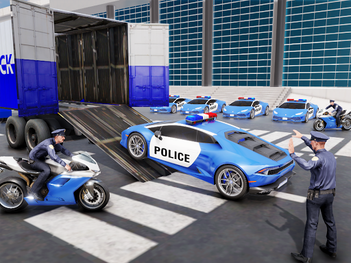 US Police Transporter Plane Simulator screenshot 15