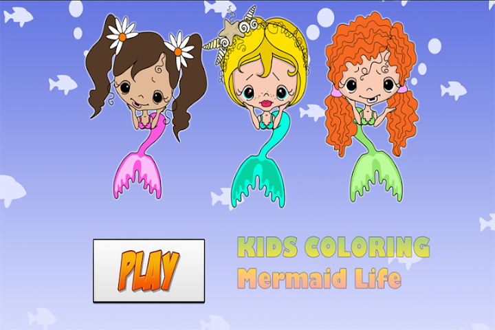 android Kids Coloring Mermaid Screenshot 0