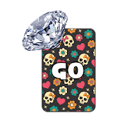 GO KB SKIN - Skull Diamonds