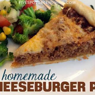 Homemade Cheeseburger Pie.