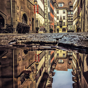 The Rat's View by Jessica Meckmann - Instagram & Mobile iPhone ( water, reflection, switzerland, zug, puddle, iphone )