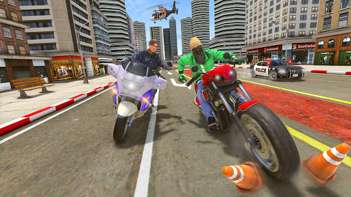 Police Moto Bike Chase u2013 Free Shooting Games 2.0.9 screenshots 4
