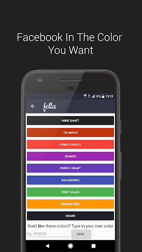 Fella for Facebook app for Android screenshot