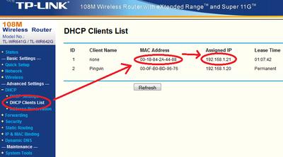 Az IP illesztő IP címének kikeresése egy TP-Link routeren