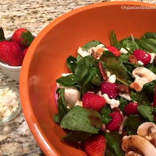 Spinach Strawberry Feta Salad.