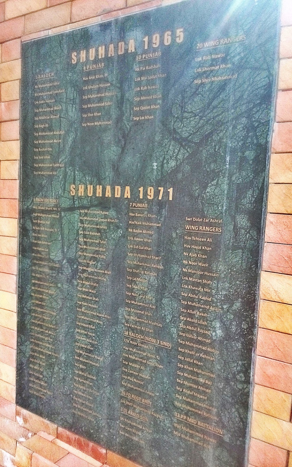 Martyrs of Sulemanki: 1965 & 1971