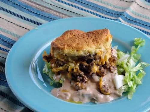 """Mac Attack!! Cheeseburger Casserole""""Tried this recipe tonight and it's definitely a family..."""