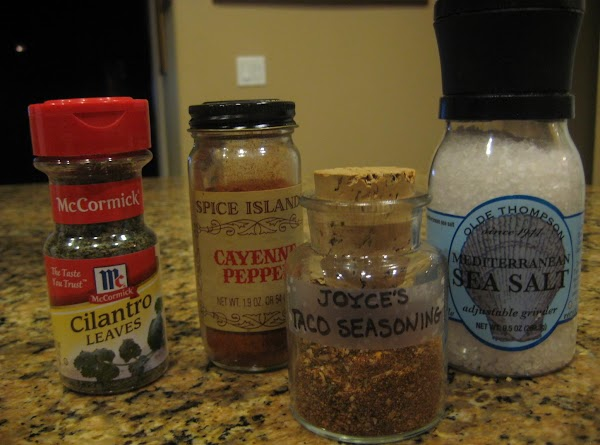 The salt, cayenne pepper and dried cilantro leaves can be omitted, but if you...
