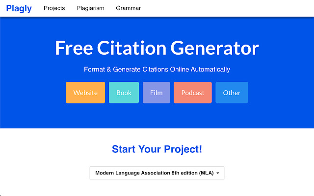 Plagly - Citation Generator