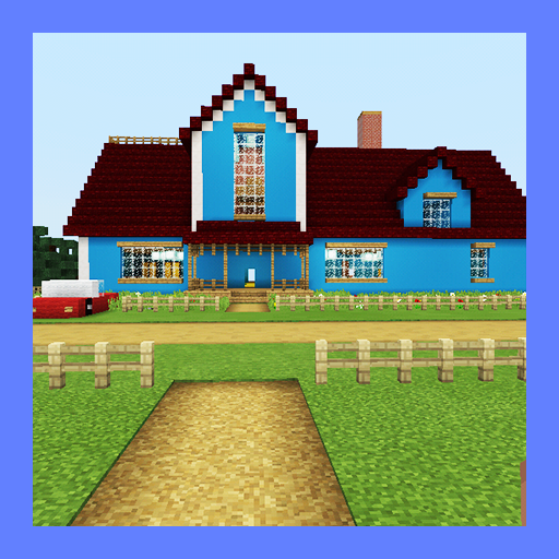 Hello Neighbor New House. Map for MCPE
