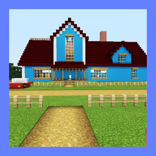 Hello Neighbor New House. Map for MCPE
