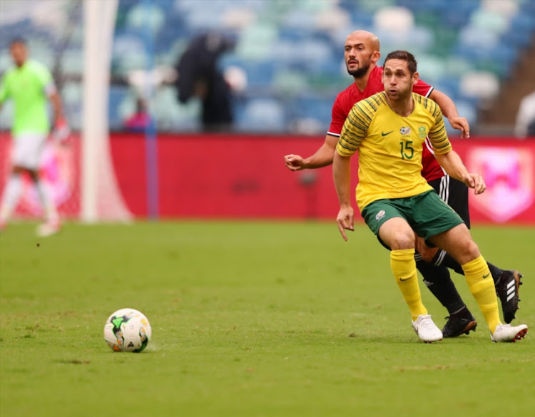 Dean Furman loses the ball during the 2019 Africa Cup of Nations qualifying match between South Africa and Libya at Moses Mabhida Stadiium on September 8 2018 in Durban, South Africa.