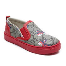 Gucci Toddler Bow Slip On Trainer SLIP ON