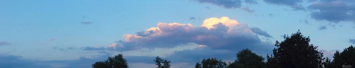 Photo: Esti felhők naplementével