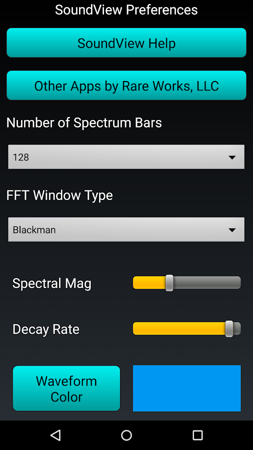 Sound View Spectrum Analyzer- screenshot
