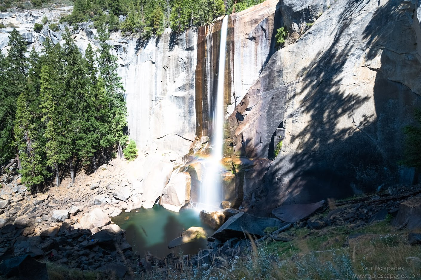 View of the Vernal Falls