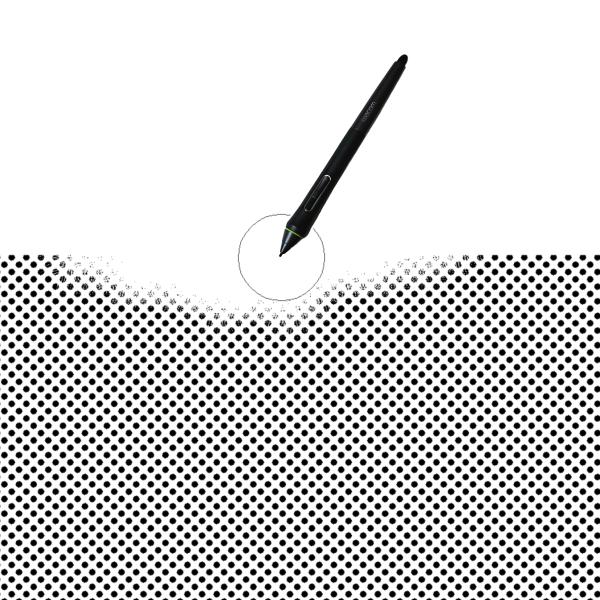 クリスタ:トーン削りツール