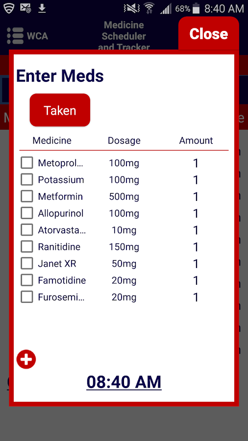 Medicine Scheduler and Tracker- screenshot