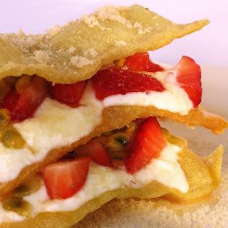 Dessert Pasta with Fruit and Greek Yogurt.
